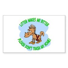 Bitter Litter Horse Rectangle Decal