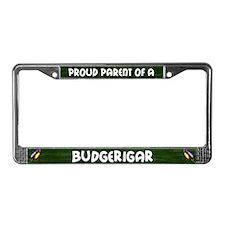 Proud Parent Budgerigar License Plate Frame