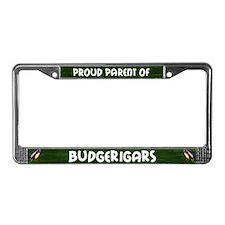 Proud Parent Multiple Budgie License Plate Frame