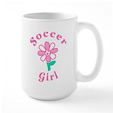 Soccer Girl Flower Mug