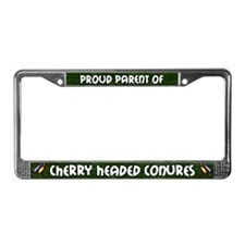 Proud Parent Multi Cherry Head License Plate Frame