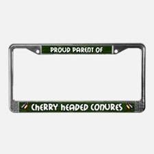 Proud Parent Multi Cherry Head License Plate Frame
