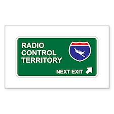 Radio, Control Territory Rectangle Decal