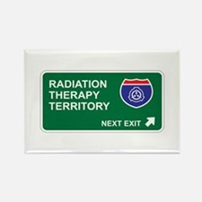 Radiation, Therapy Territory Rectangle Magnet