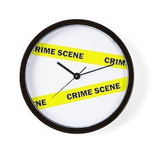 Crime Scene Wall Clock