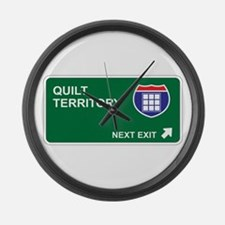 Quilt Territory Large Wall Clock