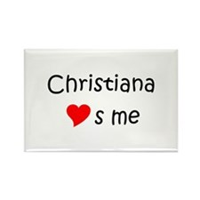 Cute Christiana Rectangle Magnet