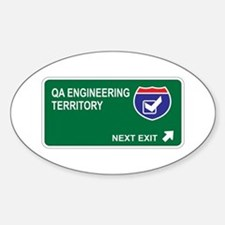QA Engineering Territory Oval Decal
