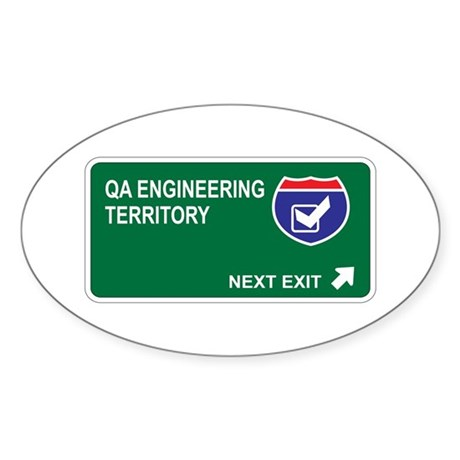 QA Engineering Territory Oval Sticker