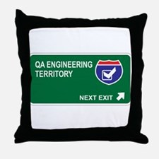 QA Engineering Territory Throw Pillow