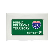 Public, Relations Territory Rectangle Magnet (100