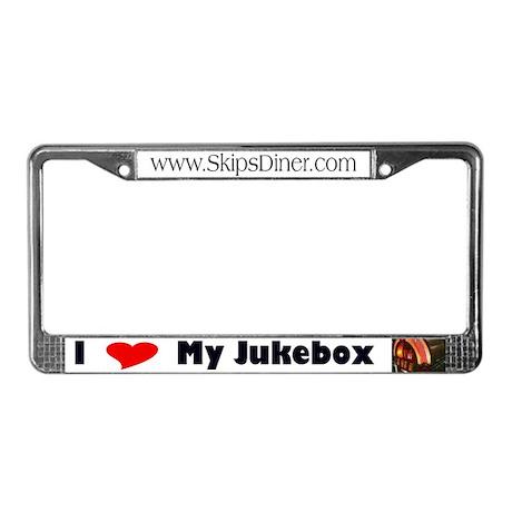 I Love My Jukebox Licence Plate Frame