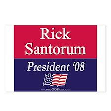 """""""Rick Santorum for President"""" Postcards (8)"""