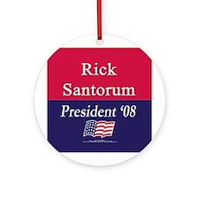 """""""Rick Santorum for President"""" Keepsake (Round)"""