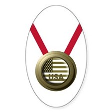 USA GOLD Oval Decal