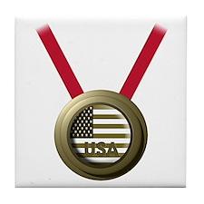 USA GOLD Tile Coaster