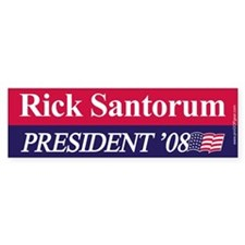 """Rick Santorum for President"" Bumper Bumper Sticker"