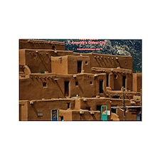 Taos Pueblo Rectangle Magnet