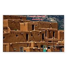 Taos Pueblo Rectangle Decal