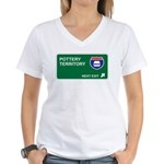 Pottery Territory Women's V-Neck T-Shirt