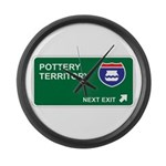Pottery Territory Large Wall Clock
