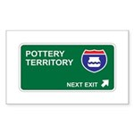 Pottery Territory Rectangle Sticker