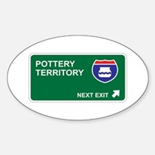 Pottery Territory Oval Decal