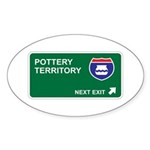 Pottery Territory Oval Sticker (50 pk)