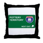 Pottery Territory Throw Pillow