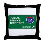 Postal, Service Territory Throw Pillow