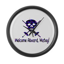 Welcome Aboard Matey Large Wall Clock
