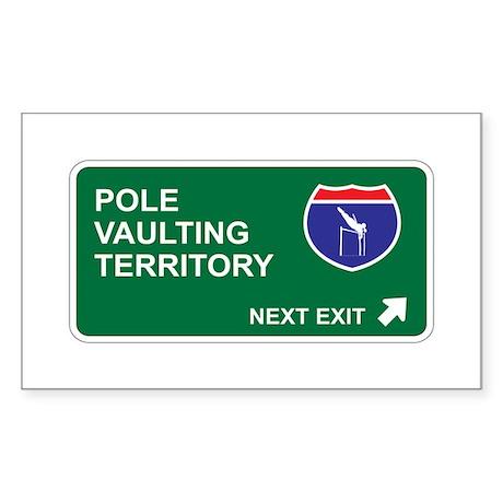 Pole, Vaulting Territory Rectangle Sticker 10 pk)