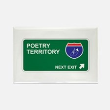 Poetry Territory Rectangle Magnet