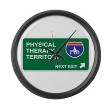 Physical, Therapy Territory Large Wall Clock