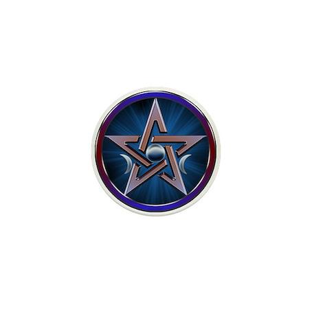 Lunar Goddes Pentagram Mini Button