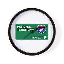 Payroll Territory Wall Clock