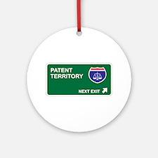 Patent Territory Ornament (Round)
