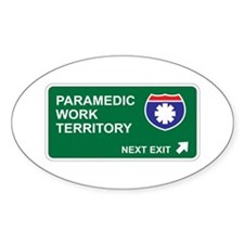 Paramedic, Work Territory Oval Decal