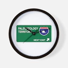 Paleontology Territory Wall Clock