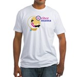 Writer Mama Fitted T-Shirt