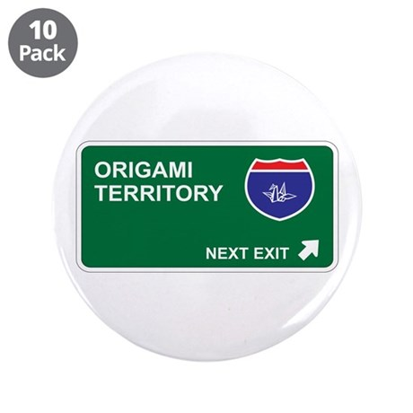 "Origami Territory 3.5"" Button (10 pack)"