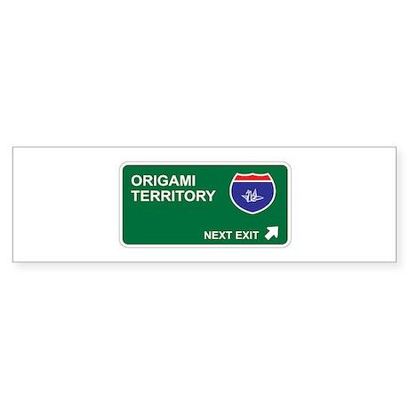 Origami Territory Bumper Sticker