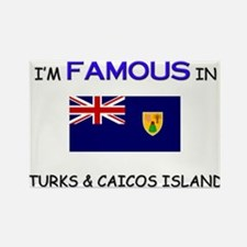 I'd Famous In TURKS & CAICOS ISLAND Rectangle Magn