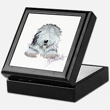 Unique Old english sheepdog Keepsake Box