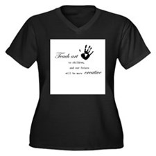 teachart1 Women's Plus Size V-Neck Dark T-Shirt