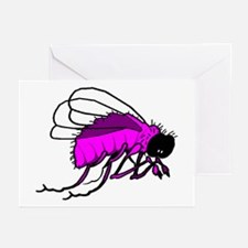 Pink & Purple Bee Greeting Cards (Pk of 10)