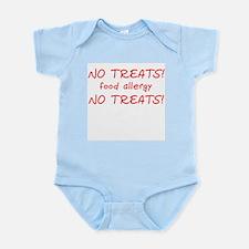 """""""No Treats! food allergy"""" Infant Creeper"""