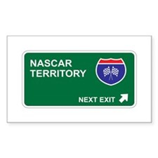 NASCAR Territory Rectangle Decal