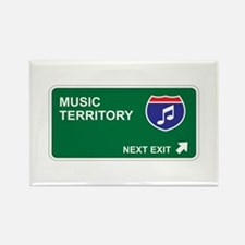 Music Territory Rectangle Magnet