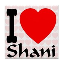 I (Heart) Shani Tile Coaster